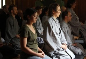 Year-long residents participate in two angos and twelve sesshin.