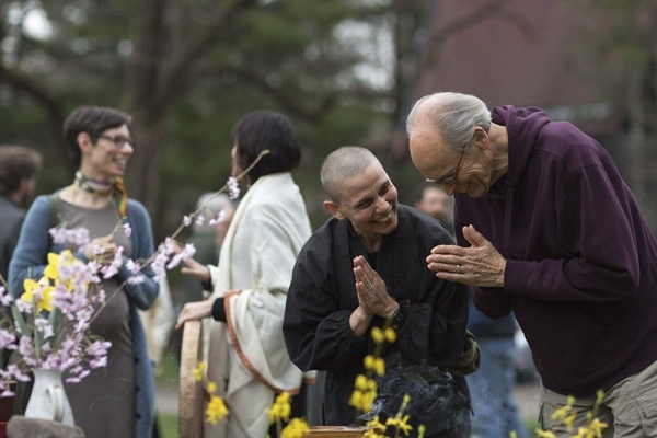 Shoan and older man earth day offering