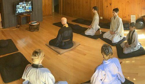 Zoom zazen with Shugen buddha hall featured image